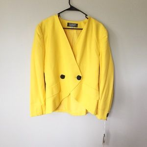 Jackets & Blazers - NWT vintage bright yellow double breast blazer